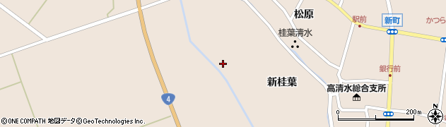 宮城県栗原市高清水桂葉周辺の地図