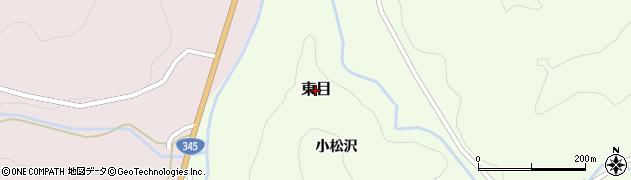 山形県鶴岡市東目周辺の地図