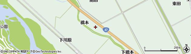 宮城県大崎市岩出山上野目(橋本)周辺の地図