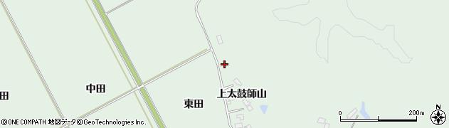 宮城県大崎市岩出山上野目(上太鼓師)周辺の地図