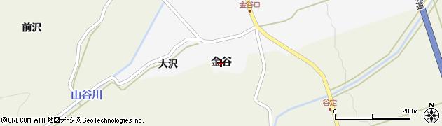 山形県鶴岡市金谷周辺の地図