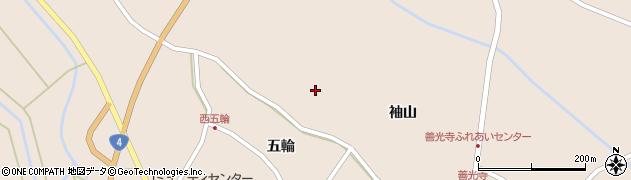 宮城県栗原市高清水袖山周辺の地図