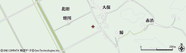 宮城県大崎市岩出山上野目(北田)周辺の地図