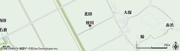 宮城県大崎市岩出山上野目(蛭川)周辺の地図