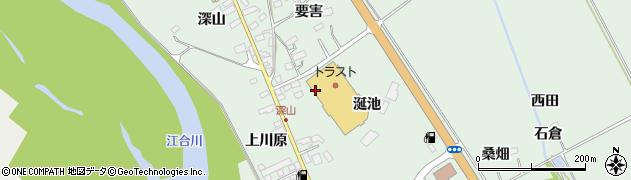 宮城県大崎市岩出山上野目(涎池)周辺の地図