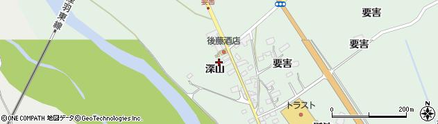 宮城県大崎市岩出山上野目(深山)周辺の地図