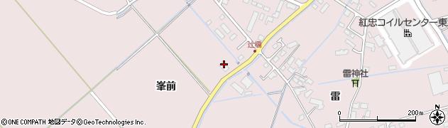 宮城県登米市南方町(峯前)周辺の地図