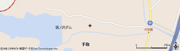 宮城県栗原市高清水沢周辺の地図
