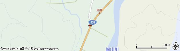 山形県最上郡大蔵村清水4周辺の地図