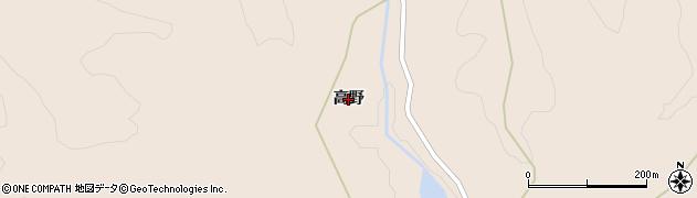 宮城県大崎市岩出山南沢(高野)周辺の地図