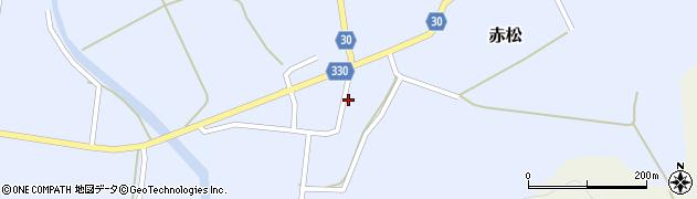 山形県最上郡大蔵村赤松1672周辺の地図