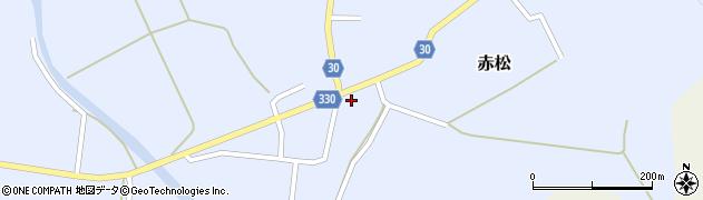 山形県最上郡大蔵村赤松654周辺の地図