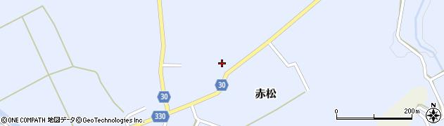 山形県最上郡大蔵村赤松208周辺の地図