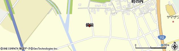 山形県鶴岡市丸岡(備前)周辺の地図