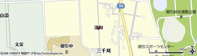 山形県鶴岡市三千刈(清和)周辺の地図