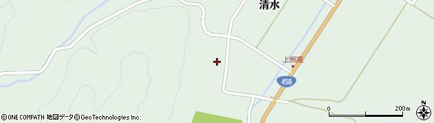 山形県最上郡大蔵村清水136周辺の地図