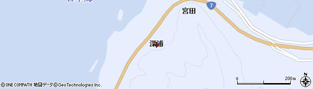 山形県鶴岡市堅苔沢(深浦)周辺の地図