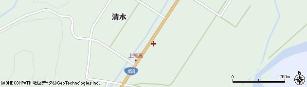 山形県最上郡大蔵村清水154周辺の地図
