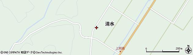 山形県最上郡大蔵村清水243周辺の地図
