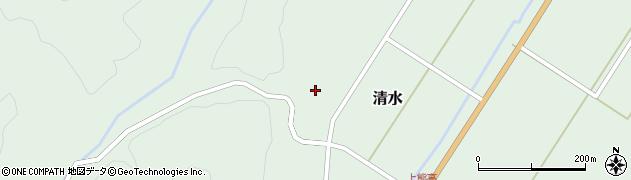 山形県最上郡大蔵村清水163周辺の地図