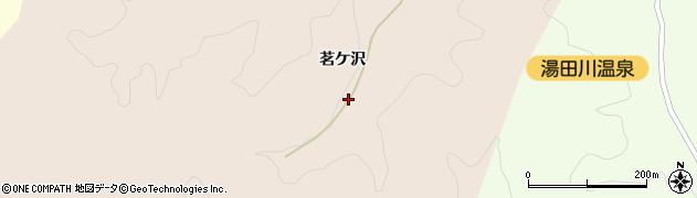 山形県鶴岡市湯田川(茗ケ沢)周辺の地図