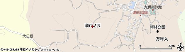 山形県鶴岡市湯田川(瀬戸ノ沢)周辺の地図