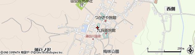山形県鶴岡市湯田川周辺の地図