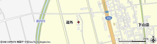 山形県鶴岡市下山添道外周辺の地図