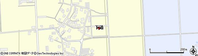 山形県鶴岡市下山添(下通)周辺の地図