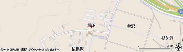 山形県鶴岡市高坂(堰下)周辺の地図