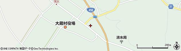 山形県最上郡大蔵村清水2576周辺の地図