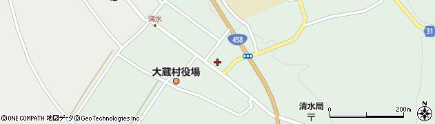 山形県最上郡大蔵村清水2584周辺の地図