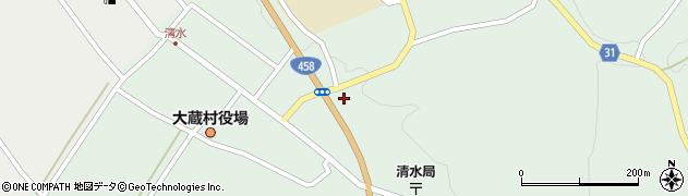 山形県最上郡大蔵村清水5256周辺の地図