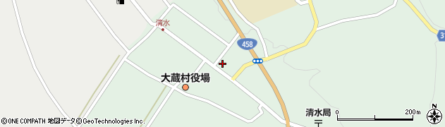 山形県最上郡大蔵村清水2585周辺の地図