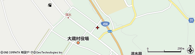 山形県最上郡大蔵村清水2588周辺の地図