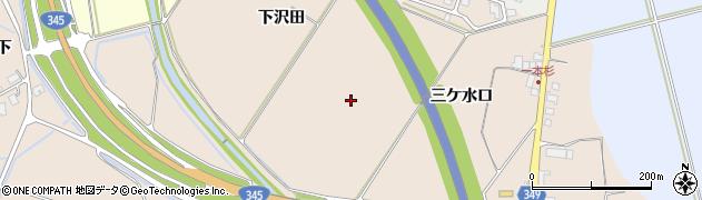 山形県鶴岡市高坂(三ケ水口)周辺の地図