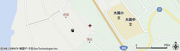 山形県最上郡大蔵村合海14周辺の地図