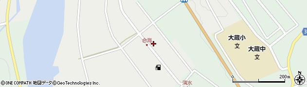 山形県最上郡大蔵村合海周辺の地図