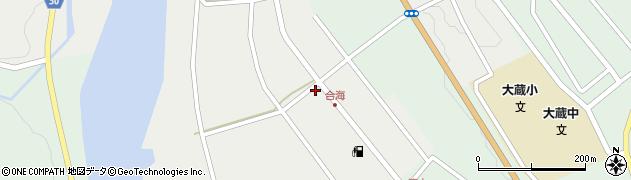 山形県最上郡大蔵村合海58周辺の地図