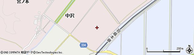 山形県鶴岡市中沢(石名川)周辺の地図