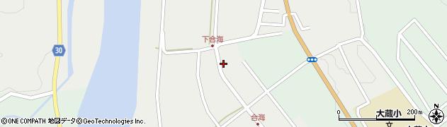 山形県最上郡大蔵村合海94周辺の地図