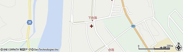 山形県最上郡大蔵村合海99周辺の地図
