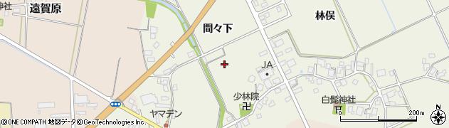 山形県鶴岡市斎藤川原(間々下)周辺の地図