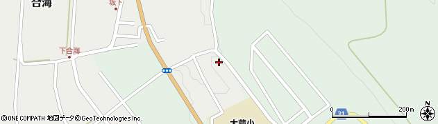 山形県最上郡大蔵村合海1453周辺の地図