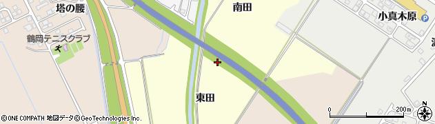 山形県鶴岡市番田(東田)周辺の地図