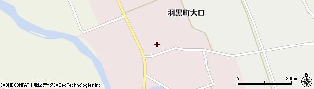 山形県鶴岡市羽黒町大口周辺の地図