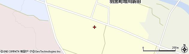 山形県鶴岡市羽黒町増川新田(西田)周辺の地図