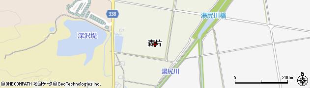 山形県鶴岡市森片周辺の地図
