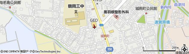 山形県鶴岡市城南町周辺の地図