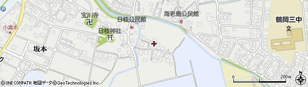 山形県鶴岡市日枝(宮脇)周辺の地図